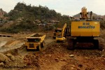 File photo of heavy machinery in Hpakant, Kachin State. (PHOTO: DVB)