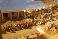 Residents of Hakha staged a peaceful protest on Tuesday. (PHOTO: Chin World)