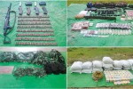 A photo of materials allegedly confiscated from the Arakan Army by Burmese troops. (PHOTO:MOI)