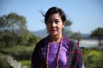 Ja Seng Hkawn at her riverside home in Myitkyina. (PHOTO:- Thin Lei Win/Myanmar Now)