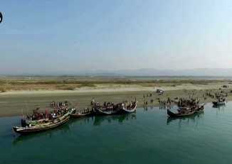 Fishing boats belonging to Rohingya Muslims in Maungdaw, Arakan State. (PHOTO: DVB)