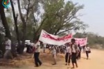 MVPPL workers begin their march from Sagaing Division to Naypyidaw on 29 April 2016. (Photo: DVB)