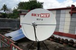 A Sky Net TV satellite dish. (Photo: DVB)