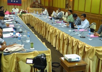 FILE PHOTO: Members of the United Nationalities Federal Council meet in Chiang Mai, Thailand, in April 2016. (Photo: DVB)