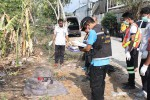 Thai police investigate the death of a Burmese man found dead on the resort island of Phuket. (Photo: Manager Online)