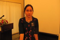 Dr. Nang Pann Ei Kham, a medical doctor and coordinator of Yangon-based Drug Policy Advocacy Group (DPAG). (Photo: Myanmar Now)