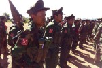 TNLA soldiers on parade in northern Shan State (Photo: TNLA)