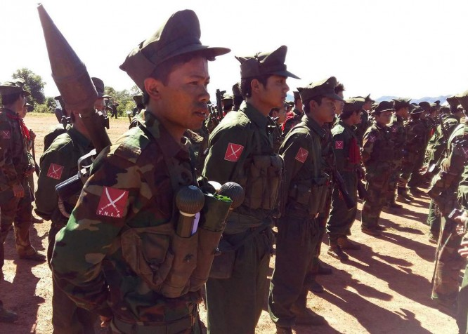 FILE PHOTO: TNLA soldiers on parade in northern Shan State. (Photo: TNLA)