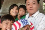 Slain forestry officer Ko Myo Min Kyaing, pictured with his family.