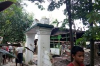 The remains of the mosque in Thayethamein. (Photo supplied to DVB)