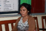 The Black Widow of Kyaukpadaung. Aye Aye Cho is accused of hiring six men to murder her husband on 15 June 2016. (PHOTO: DVB/Arkar Min)