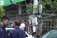 The scene of a fatal electrocution that claimed the life of a 16-year-old boy on 24 May 2016. (Photo: Kalayar Sukyi / Facebook)