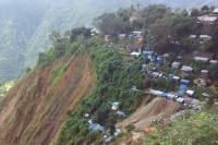 Mawchi in the aftermath of a landslide in October 2015. (PHOTO: DVB)