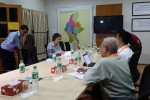 UN Rapporteur Yanghee Lee meets with members of the MNHRC in Rangoon on 27 June 2016. (PHOTO: DVB)