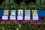 Portraits of five villagers allegedly muurdered by Burmese soldiers in Mong Yaw at their funeral on 2 July 2016. (Photo: Kham Yord via Shan Human Rights Foundation)