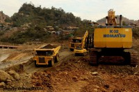Heavy machinery at work at a jade mine in Hpakant, Kachin State. Burma's new government aims to be less dependent on natural resources for economic development. (Photo: DVB)