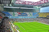 Inter Milan fans at their home stadium, the San Siro. (PHOTO: wikicommons)