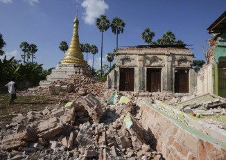 File photo of an earthquake that struck western Burma's Sagaing Division in November 2012. (Photo: Reuters)