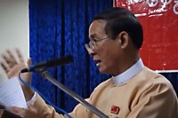 Lower House speaker Win Myint  (PHOTO: DVB)