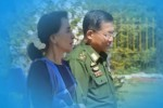 Friends or foes?  Burmese leader Aung San Suu Kyi (left) and military chief Min Aung Hlaing. (PHOTO: DVB)