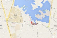 The US embassy sits alongside Inya Lake on University Avenue in Rangoon. (Image: Google Maps)