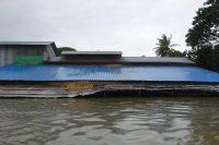 A flooded house in Rangoon Division's Taikkyi Township. (Photo: DVB)