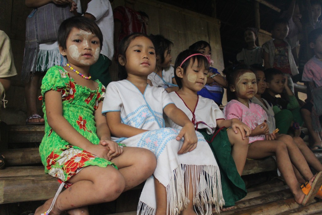 Children in Mae La Oon Refugee Camp. Many are from Karen State and wear the traditional Karen dress. (Photo: Libby Hogan / DVB)