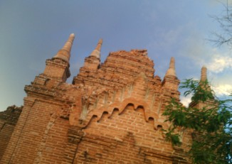 A damaged temple in Bagan, 25 August 2016. (PHOTO: DVB)