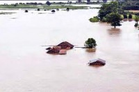 A house in the Irrawaddy delta inundated by flooding (PHOTO: DVB)