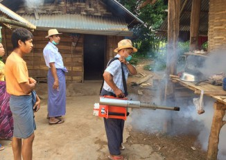 A fumigation campaign has been launched in neighbourhoods across Burma which have recorded cases of Japanese encephalitis. (PHOTO: DVB)