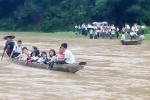 Typical long-tail boat ferry service in Arakan (PHOTO: DVB)
