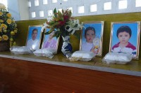Retired police officer Soe Naung, 37, his wife Cherry Pwint, 33, and two children –Han Thura, 13, and nine-year-old Swan Htet Myat – were found murdered with multiple stab wounds to their bodies in their home in northern Rangoon on 20 August 2016. (PHOTO: DVB)