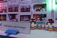 Fake pharmaceutical products on display (Photo: DVB)