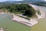 Myitsone, at the confluence of two rivers that join to form the Irrawaddy River, is the site of a massive hydropower project that was halted in 2011, and which its Chinese backers want restarted. (Photo: DVB)