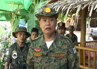 Dead or alive? File photo of DKBA renegade commander Col. Saw San Aung. (PHOTO: DVB)