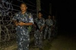 Security forces patrol the Burma-Bangladesh border in northern Arakan State. (Photo: DVB)