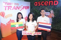 Executives of Thai e-money company TrueMoney join to launch the overseas transfer service. (Photo: TrueMoney)