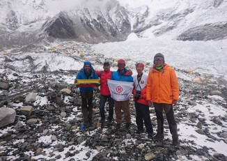 Members of the Burmese climbing team that reached the summit of Mount Everest on 19 May 2016. (Photo: Htoo Foundation)