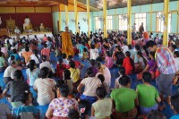 IDPs sheltering at a monastery in Tonlong, Shan State (PHOTO: DVB)