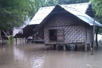 A flooded village in southern Mandalay Division. (Photo: MOI)
