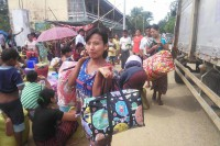 Arakanese villagers displaced by recent violence in northern Arakan State return to their homes amid heightened security in the region. (Photo: DVB)