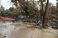 A torched village in northern Arakan State's Maungdaw Township. (Photo: DVB)