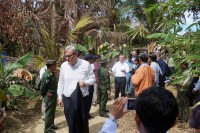 Foreign diplomats visit northern Arakan State on 2 November 2016. (Photo: DVB)