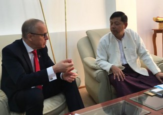 H.E. Ambassador Staffan Herrstrom of Sweden, pictured during his first visit to Burma on 13 January 2016.. (PHOTO: ScandAsia)