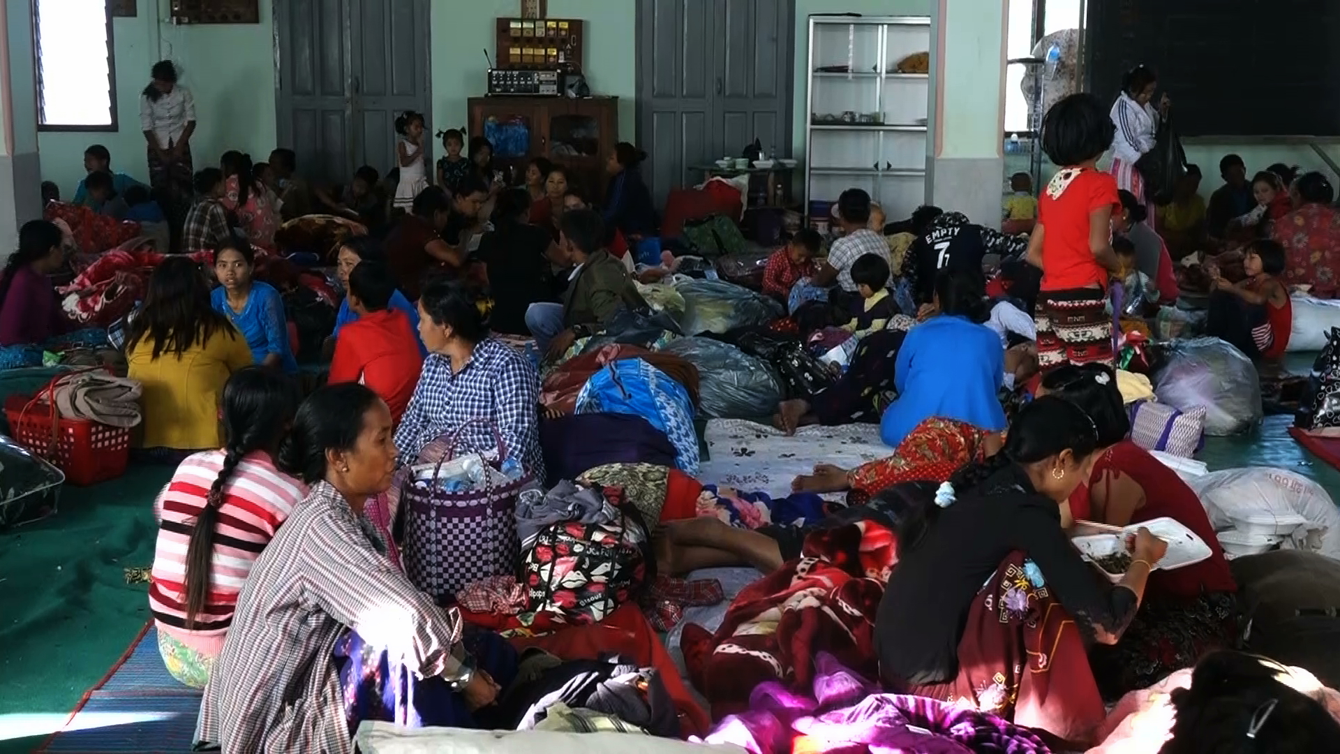 More than 3,000 Muse residents are seeking shelter across the border in China. (PHOTO: DVB)