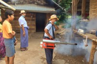 File photo of a fumigation campaign in Burma. So far only one case of infection by the mosquito-borne Zika virus has been reported in the country. (Photo: DVB)