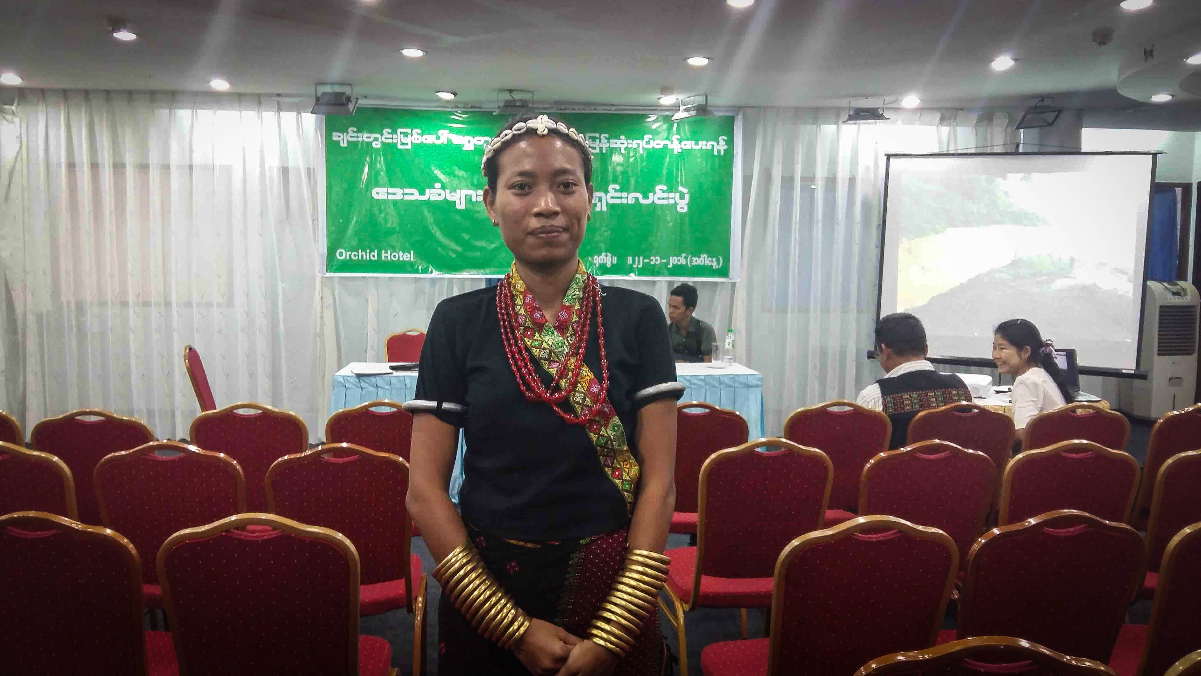 Kuki Women leader Boinu says there has been a rise in drugs and domestic abuse in her community since gold mining began in Sagaing Division along the Chindwin River. (Photo: Libby Hogan / DVB)