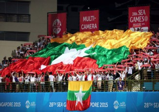 Burmese football fans (PHOTO: DVB)