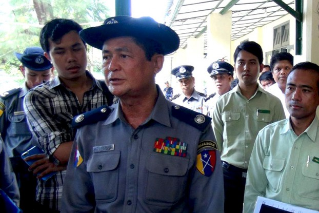 Police Brigadier General Thura San Lwin heads the Border Guard Police Force in Maungdaw township, Arakan State. (Photo: DVB)