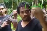A screen grab from an unverified video purports to show a group of armed Rohingya men calling for fighters to join their jihad in Arakan State.